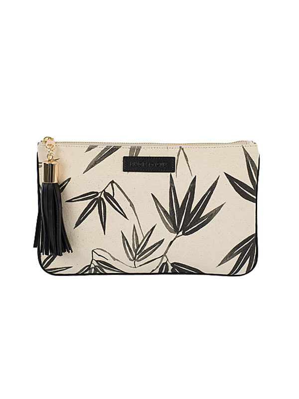 Kyoto Print Canvas Pouch